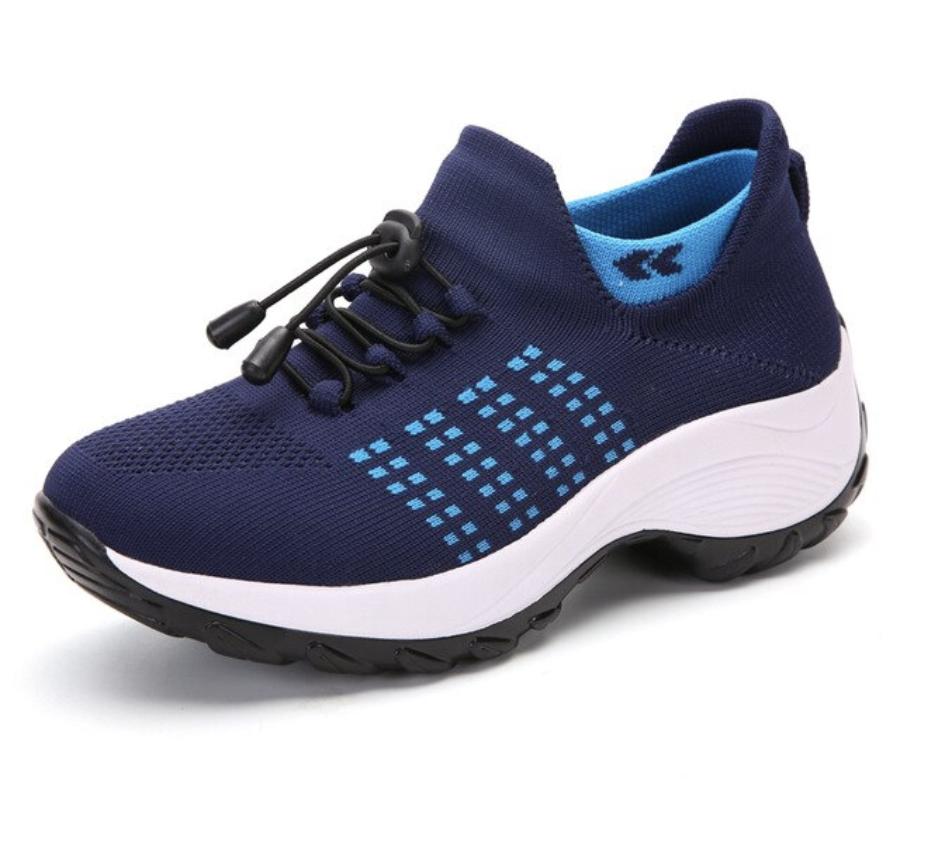 Baskets ajustable compensées avec semelle orthopédique donnashoes