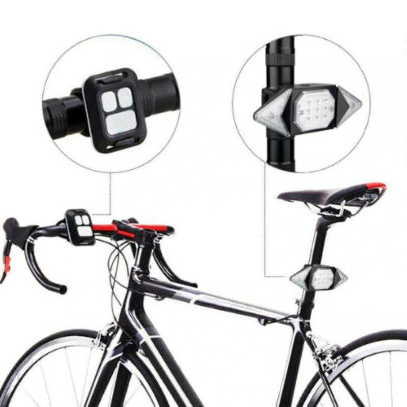 Feux clignotants led sans fil pour vélo sécurity-cycle
