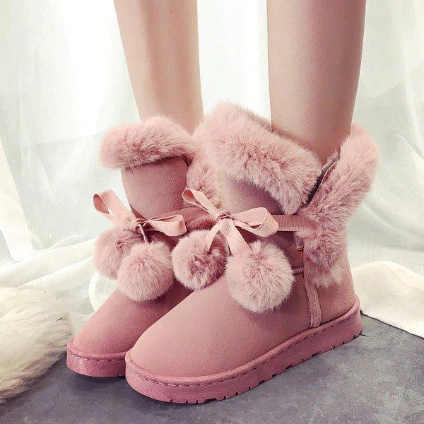 Bottes d'hiver chaudes femme