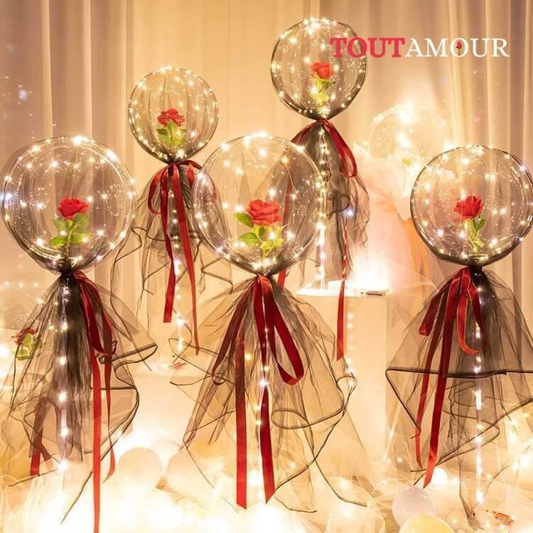 Bouquet de roses éternelles lumineux - tout amour