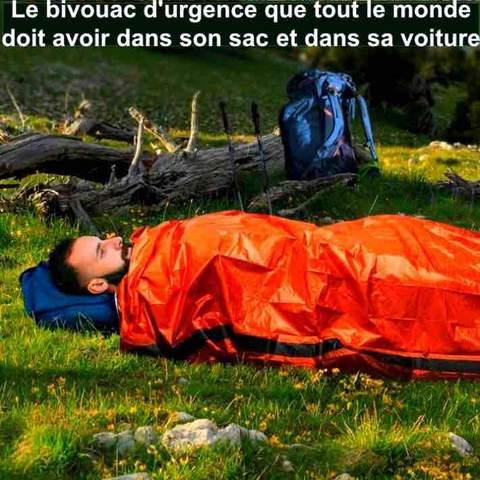 sac de couchage bivouac urgence