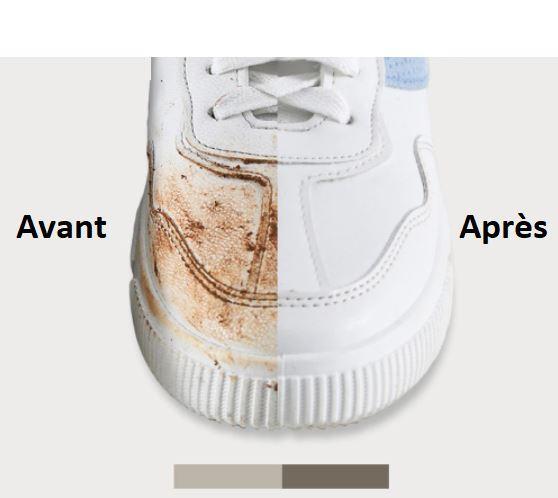 Gomme magique de nettoyage pour chaussures
