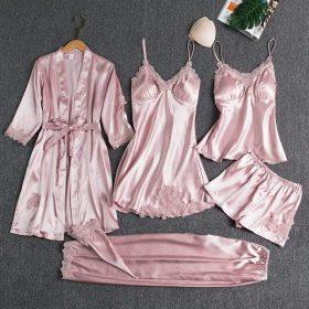 Ensemble pyjama 5 pièces en soie celinoe
