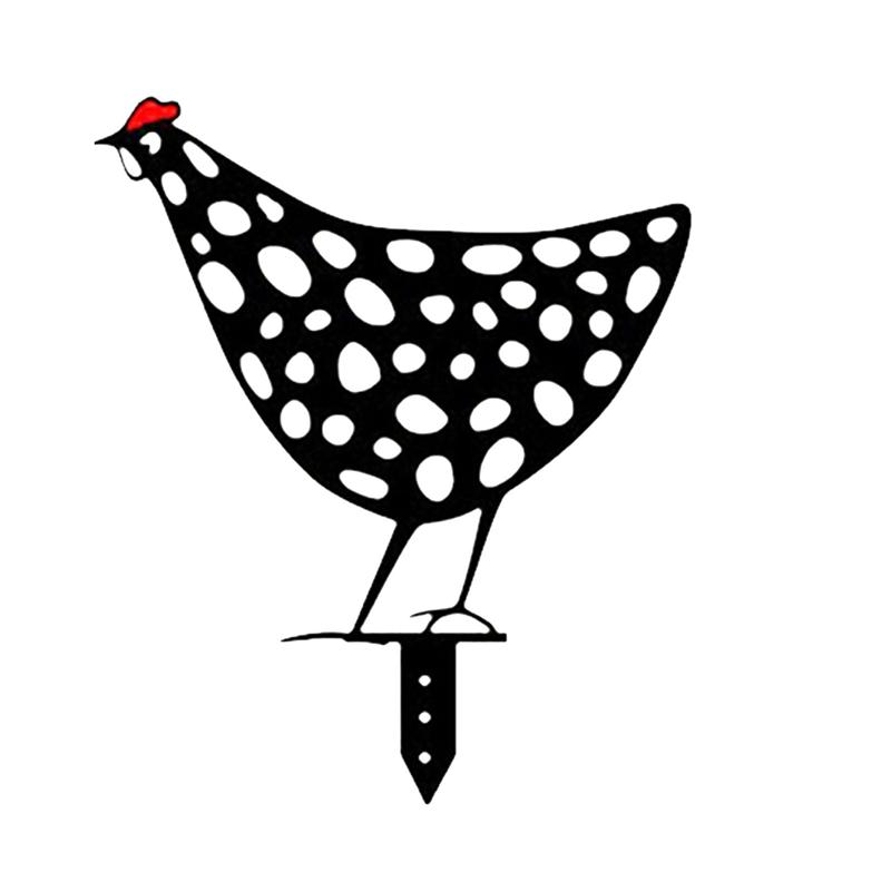Poules décoratives de jardin