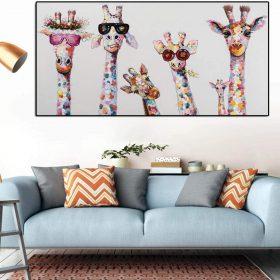 Tableau girafes