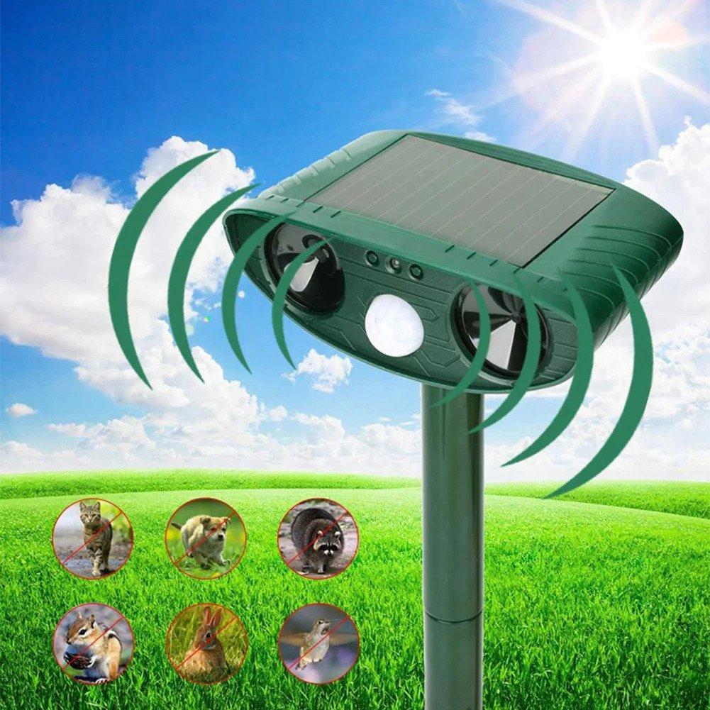 Répulsif à ultrasons solaire dissuasif oiseaux et chats