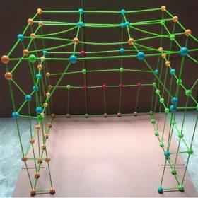 Kit de construction de fort pour enfants