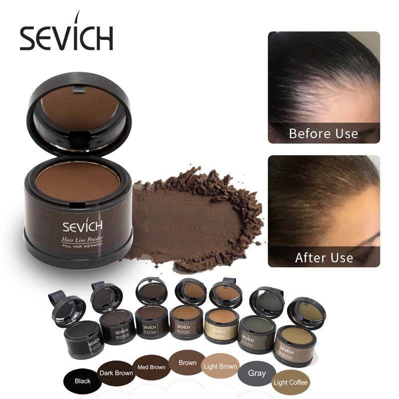 Poudre spéciale racine densifiante pour cheveux avec effet ombré
