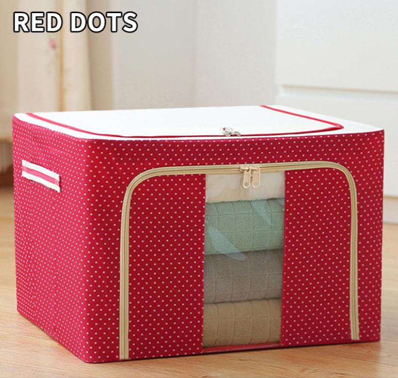 Boîte de rangement à cadre en acier en tissu oxford