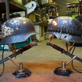 Lampe relique de guerre