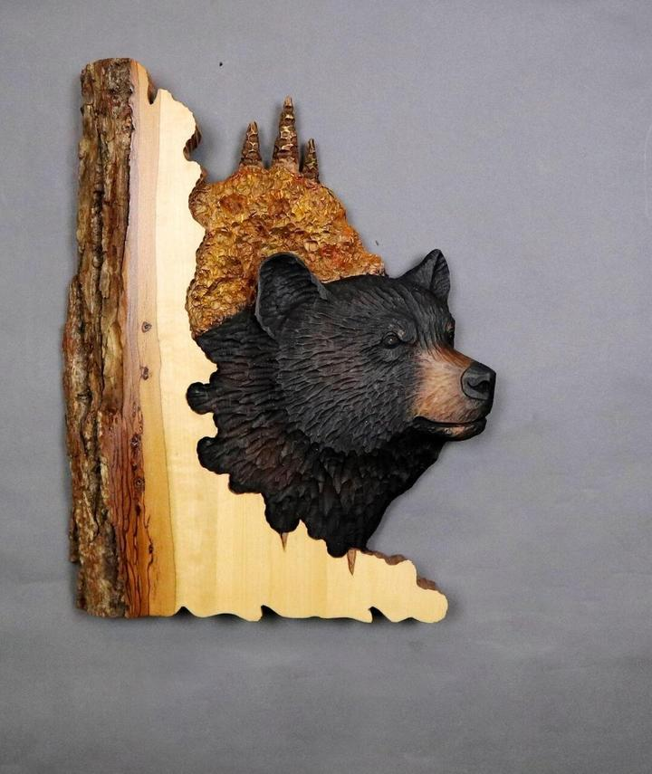 Reproduction de sculpture murale d'animaux