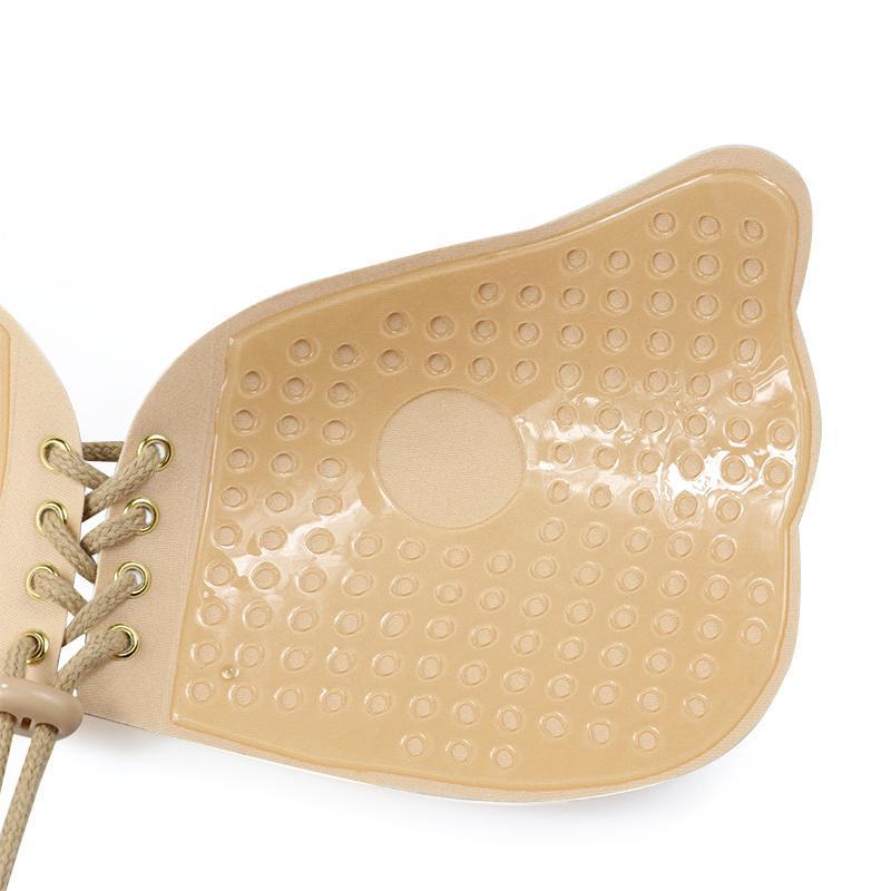 Soutien-gorge adhésif invisible avec lacet