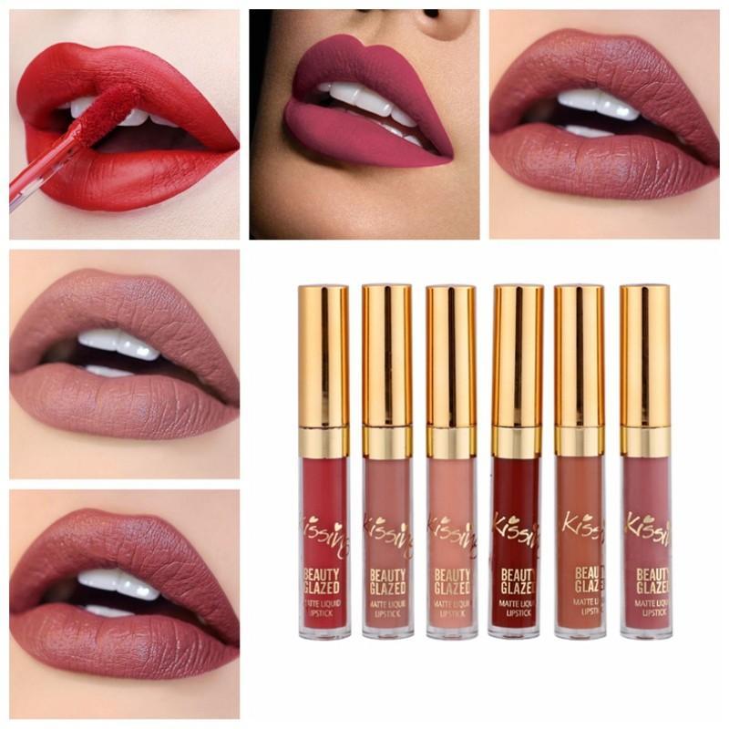 6 Rouges à lèvres waterproof - aqualevre