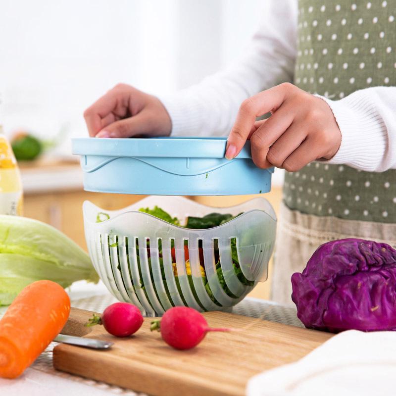 coupe legume avec salade couvercle - shopibest