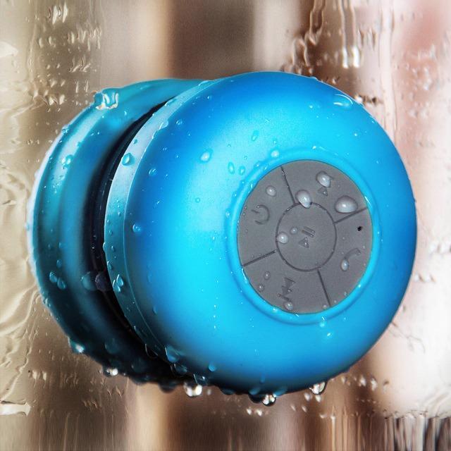 enceinte bluetooth waterproof bleu douche -  shopibest