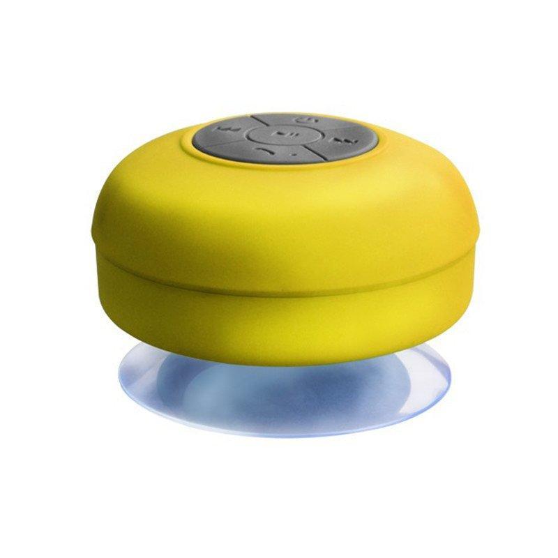 enceinte bluetooth waterproof jaune - shopibest